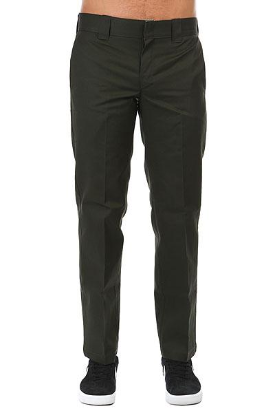 Штаны прямые Dickies Slim Straight Work Pant Olive Green<br><br>Цвет: Темно-зеленый<br>Тип: Штаны прямые<br>Возраст: Взрослый<br>Пол: Мужской