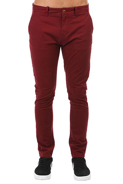 Штаны узкие Quiksilver Krandy Pomegranate<br><br>Цвет: красный<br>Тип: Штаны узкие<br>Возраст: Взрослый<br>Пол: Мужской