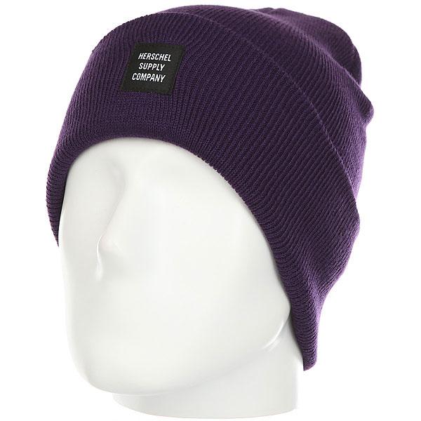 Шапка Herschel Abbott Pr Purple<br><br>Цвет: Темно-фиолетовый<br>Тип: Шапка<br>Возраст: Взрослый<br>Пол: Мужской