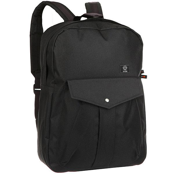 Рюкзак Extra B308 BlackУдобный рюкзак, который подойдет как для городских прогулок, для путешествий, так и для походов в школу или университет – отлично вместит не только необходимые мелочи, но ваш ноутбук. Характеристики:Вместительное отделение на молнии.Внутренний карман-органайзер. Мягкие регулируемые лямки. Ручка для переноски в руках. Лицевой карман на кнопке. Логотип производителя.<br><br>Цвет: черный<br>Тип: Рюкзак городской<br>Возраст: Взрослый