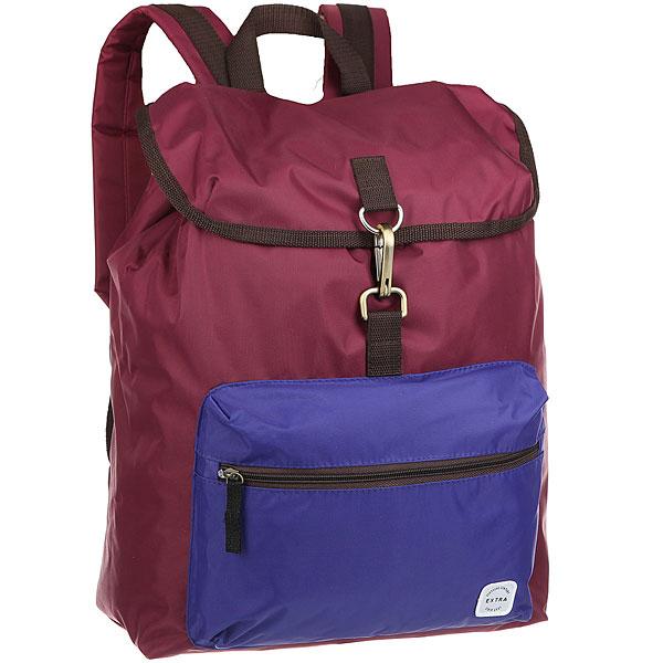 Рюкзак туристический Extra B320 Bordo/BlueРюкзак туристический Extra B320 станет незаменимым товарищем в путешествии.Характеристики:Утяжка горловины. Защитный клапан с застежкой – карабином. Лицевой карман на молнии. Ручка для переноски.Смягченные регулируемые лямки.<br><br>Цвет: бордовый,синий<br>Тип: Рюкзак туристический<br>Возраст: Взрослый