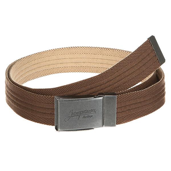 Ремень Запорожец Webbing Belt Brown/Beige<br><br>Цвет: коричневый<br>Тип: Ремень<br>Возраст: Взрослый<br>Пол: Мужской