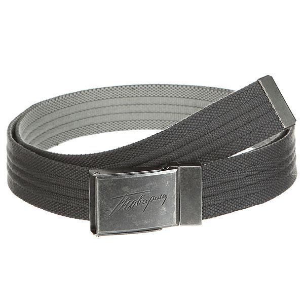Ремень Запорожец Webbing Belt Grey/Lt.grey<br><br>Цвет: серый<br>Тип: Ремень<br>Возраст: Взрослый<br>Пол: Мужской