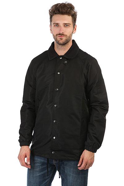 Куртка НИИ Коуч ЧерныйУдобная куртка НИИ Коуч в рубашечном стиле.Характеристики:Влагонепроницаемое покрытие ткани.Классический рубашечный воротник. Застежка-кнопки. Манжеты на резинках.<br><br>Цвет: черный<br>Тип: Куртка<br>Возраст: Взрослый<br>Пол: Мужской