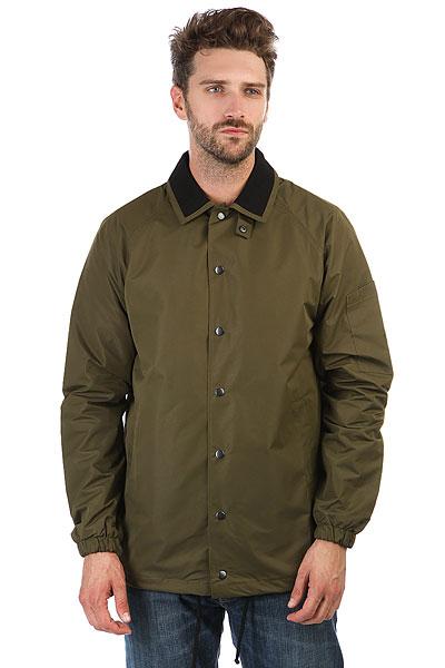 Куртка НИИ Коуч ХакиУдобная куртка НИИ Коуч в рубашечном стиле.Характеристики:Влагонепроницаемое покрытие ткани.Классический рубашечный воротник. Застежка-кнопки. Манжеты на резинках.<br><br>Цвет: зеленый<br>Тип: Куртка<br>Возраст: Взрослый<br>Пол: Мужской