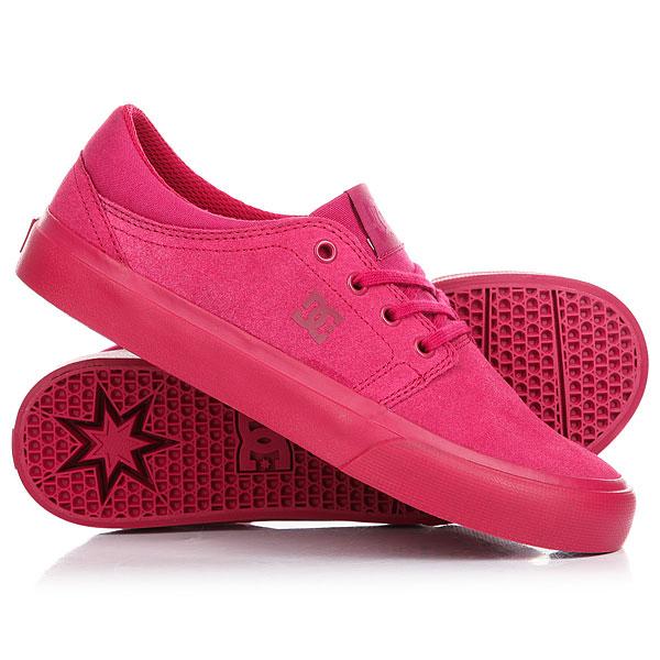 Кеды кроссовки низкие женские DC Trase Raspberry<br><br>Цвет: Темно-розовый<br>Тип: Кеды низкие<br>Возраст: Взрослый<br>Пол: Женский