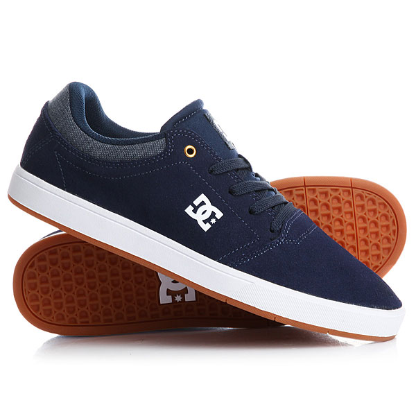 Кеды кроссовки низкие DC Crisis Navy/Blue/White кеды кроссовки низкие dc wes kremer tan brown