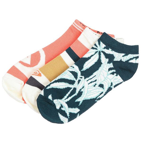 Комплект носков женский Roxy Ankle Socks Reflecting Pond<br><br>Цвет: мультиколор<br>Тип: Комплект носков<br>Возраст: Взрослый<br>Пол: Женский