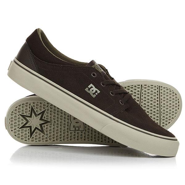 Кеды кроссовки низкие DC Trase Military Green/Cream кеды кроссовки низкие dc wes kremer tan brown