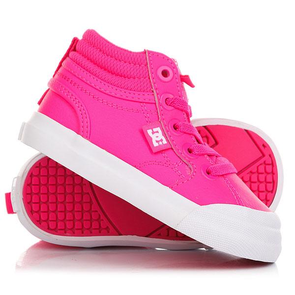 Купить со скидкой Кеды кроссовки высокие детские DC Evan Hi Pink