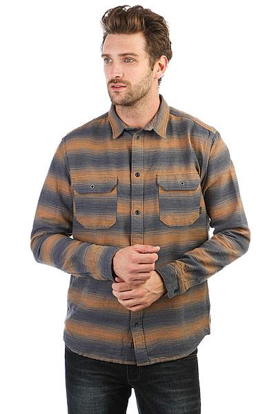 Рубашка Quiksilver Dusky Town Golden Oak<br><br>Цвет: синий,оранжевый<br>Тип: Рубашка<br>Возраст: Взрослый<br>Пол: Мужской