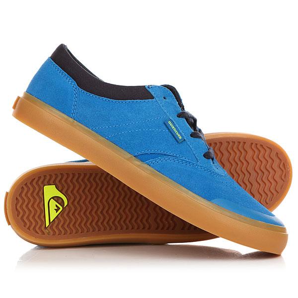 Кеды кроссовки низкие детские Quiksilver Burc Blue/Brown кеды кроссовки низкие детские quiksilver beacon black black grey