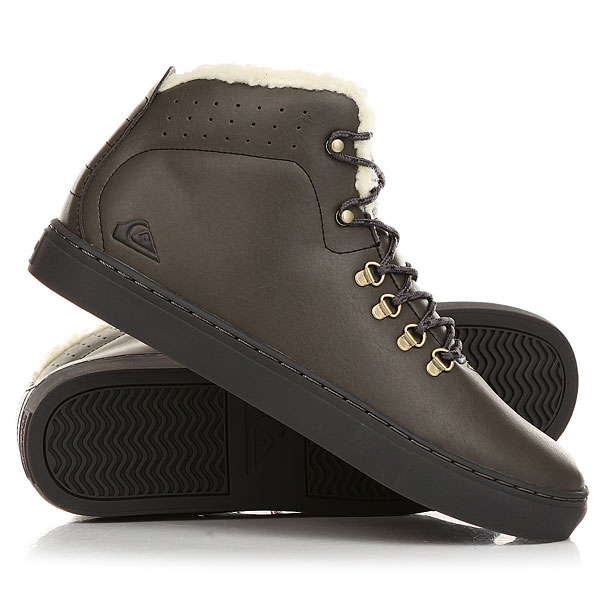 Кеды кроссовки зимние Quiksilver Jax GreyВ холодное время года важно, чтобы ноги были в тепле! Представляем вам эти теплые ботинки! Характеристики:Верх выполнен из натуральной мягкой кожи высокого качества. Внутри вставка из меха. Удобная плотная формованная стелька.Специальная конструкция подошвы. Круглая шнуровка с металлическими петлями. Каучуковая прошитая подошва. Протектор елочкой - гарантия качественного сцепления с дорогой.<br><br>Цвет: Темно-коричневый<br>Тип: Кеды зимние<br>Возраст: Взрослый<br>Пол: Мужской