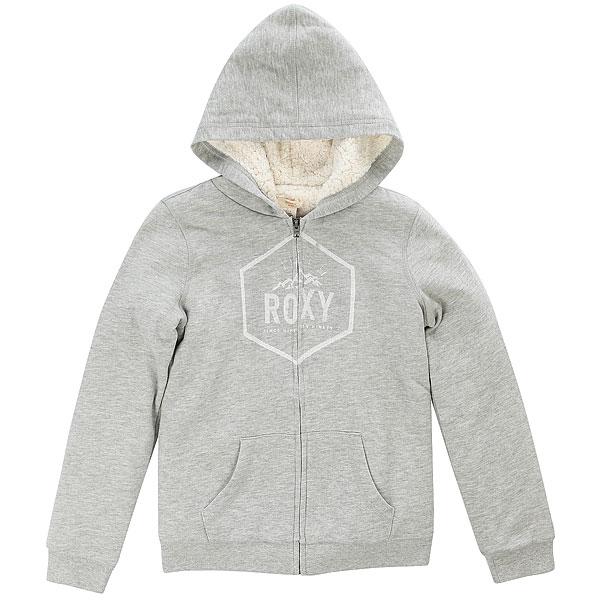 Толстовка кенгуру детская Roxy Memorize Densit Gray<br><br>Цвет: Светло-серый<br>Тип: Толстовка кенгуру<br>Возраст: Детский