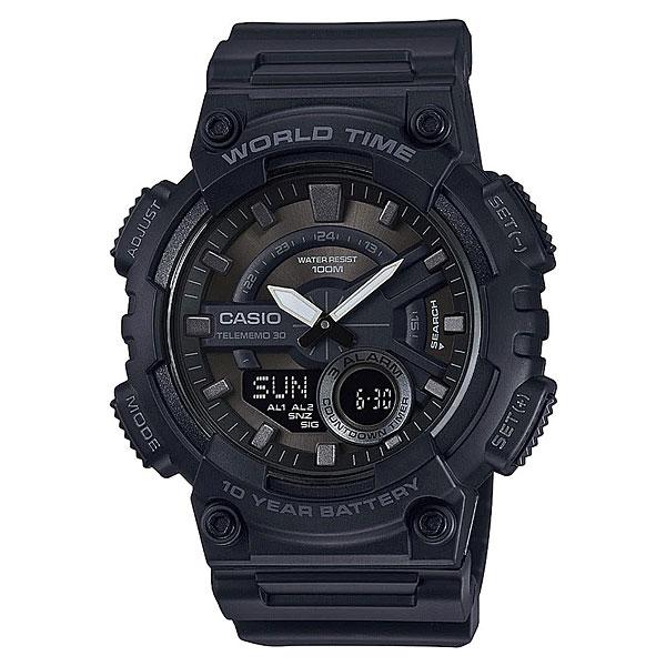 Кварцевые часы Casio G-Shock Collection Aeq-110w-1bФункциональные наручные часы с неоновым дисплеем и аккумулятором, который прослужит до 10 лет.Технические характеристики: Неоновый дисплей.Записная книжка (30 сохраненных имен и телефонных номеров).Функция мирового времени.Функция секундомера- 1/100 сек. - 24 часа.Таймер - 1/1 мин. - 24 часа.3 ежедневных будильника.Функция повтора будильника.Автоматический календарь.12/24-часовое отображение времени.Корпус из полимерного пластика.Ремешок из полимерного материала.Продолжительное время работы аккумулятора - 10 лет.<br><br>Цвет: черный<br>Тип: Кварцевые часы<br>Возраст: Взрослый<br>Пол: Мужской