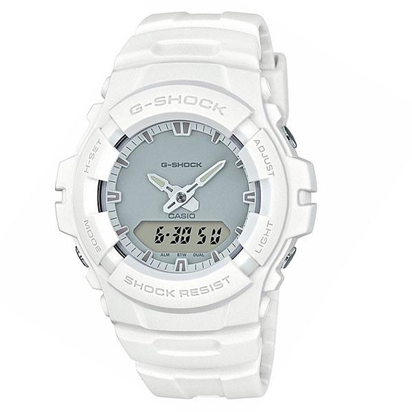 Кварцевые часы Casio G-Shock 67983 G-100cu-7aУдаропрочные часы с защитой от воздействия магнитных полей, а высокий уровень водонепроницаемости делает эту модель идеальной для ныряния без акваланга.Технические характеристики: Электролюминесцентная подсветка.Ударопрочная конструкция защищает от ударов и вибрации.Устойчивость к воздействию магнитного поля.Дополнительный циферблат мирового времени.Функция секундомера - 1/100 сек. - 1 час.Ежедневный будильник.Автоматический календарь.12/24-часовое отображение времени.Минеральное стекло.Корпус из полимерного пластика.Ремешок из полимерного материала.Срок службы аккумулятора - 3 года.<br><br>Цвет: белый<br>Тип: Кварцевые часы<br>Возраст: Взрослый<br>Пол: Мужской