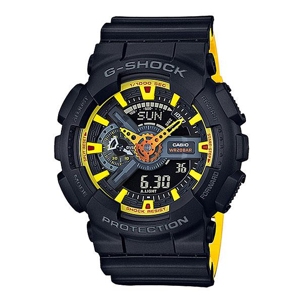 Кварцевые часы Casio G-Shock 68042 Ga-110by-1aУдаропрочные многофункциональные часы со светодиодной подсветкой и функцией автоматической подсветки. Характеристики:Элемент питания CR1220.Точность хода не хуже -/+15 сек./в месяц. Срок службы батареи 2 года.Электрическая светодиодная подсветка с функцией автоматической подсветки при наклоне часов к лицу. Отображение текущего времени в основных городах и регионах мира. 29 временных зон (48 городов + Универсальное координирование времени), отображение кода города, переход на летнее время. Секундомер с точностью показаний 1/1000 сек и максимальным временем измерения - 10 час. Таймер с функцией автоповтора. 5 будильников в возможностью работы в пятидневном и еженедельном режимах. Функция повтора сигнала будильника (Snooze). Автоматический календарь.Особая ударопрочная конструкция защищает от ударов и вибрации.Магнитоустойчивость по 1 разряду Японского промышленного стандарта (Соответствует стандарту MOC-ISO 764) обеспечивает устойчивость к воздействию магнитных полей. Минеральное стекло устойчивое к возникновению царапин. Водозащита до 20 АТМ. Ремешок из полимерного материала.<br><br>Цвет: черный<br>Тип: Кварцевые часы<br>Возраст: Взрослый<br>Пол: Мужской