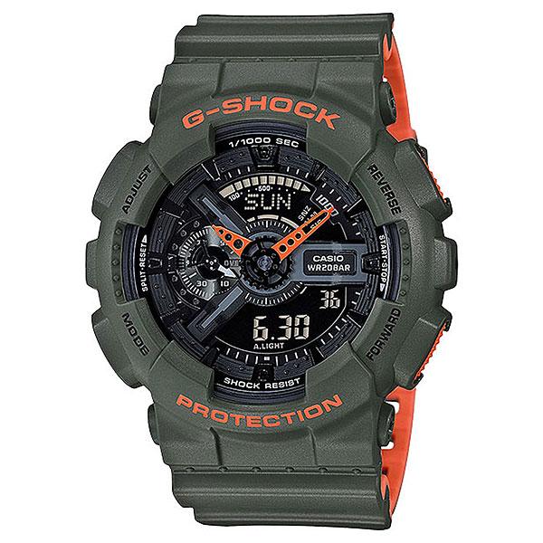 Кварцевые часы Casio G-Shock 67985 Ga-110ln-3aНаручные часы для спорта и активного отдыха в ударопрочном корпусе с защитой от воздействия магнитных полей, а высокий уровень водонепроницаемости делает эту модель идеальной для ныряния без акваланга.Технические характеристики: Автоматическая светодиодная подсветка.Ударопрочная конструкция защищает от ударов и вибрации.Устойчивость к воздействию магнитного поля.Функция мирового времени.Функция секундомера - 1/1000 сек. - 100 часов.Таймер - 1/1 мин. - 24 часа (с автоматическим повтором).5 ежедневных будильников.Функция повтора будильника.Отображение скорости.Автоматический календарь.12/24-часовое отображение времени.Минеральное стекло.Корпус из полимерного пластика.Ремешок из полимерного материала.Срок службы аккумулятора - 2 года.<br><br>Цвет: зеленый<br>Тип: Кварцевые часы<br>Возраст: Взрослый<br>Пол: Мужской