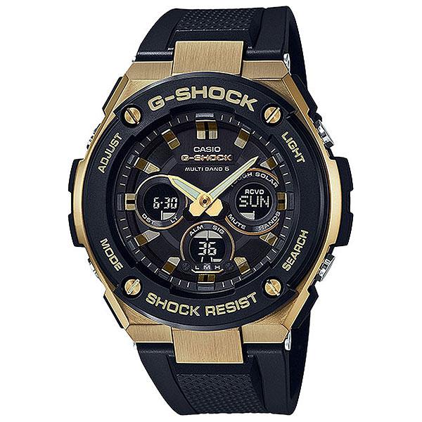 Кварцевые часы Casio G-Shock 67990 Gst-w300g-1a9Незаменимые часы для путешественников и для активных молодых людей. Оптимальный функционал, прочная конструкция из нержавеющей стали и пластика, а также стильный дизайн.Технические характеристики: Полностью автоматическая светодиодная подсветка.Ударопрочная конструкция защищает от ударов и вибрации.Солнечная батарейка.Прием радиосигнала (Европа, США, Япония, Китай).Неоновый дисплей.Функция мирового времени.Функция секундомера - 1/100 сек. - 1 час.Таймер – 1/1 сек. – 100 минут.5 ежедневных будильников.Функция перемещения стрелок.Включение/выключение звука кнопок.Автоматический календарь.12/24-часовое отображение времени.Минеральное стекло.Корпус из нержавеющей стали и полимерного пластика.Ремешок из полимерного материала.Индикатор уровня заряда батарейки.<br><br>Цвет: черный,бежевый<br>Тип: Кварцевые часы<br>Возраст: Взрослый<br>Пол: Мужской