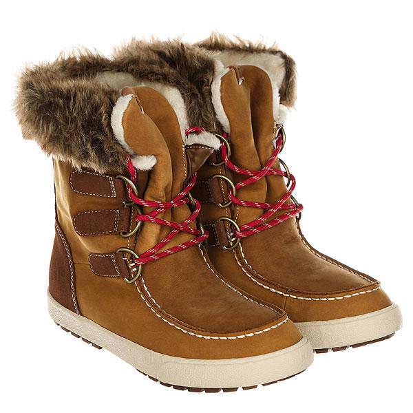 Ботинки высокие женские Roxy Rainier Boot BrownУтепленные зимние ботинки Roxy Rainier.Характеристики:Водостойкий верх из кожи и замши.Внутренний сапожок. Металлические петли-люверсы в форме буквы D.Круглые разноцветные шнурки. Верх голенища с подкладкой из синтетического меха.Сплошная подкладка из синтетического меха (язычок, стелька и голенище).Фактурная надпись ROXY на язычке. Эластичная вулканизированная подошва.<br><br>Цвет: Светло-коричневый<br>Тип: Ботинки высокие<br>Возраст: Взрослый<br>Пол: Женский