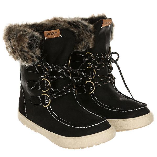 Ботинки высокие женские Roxy Rainier Boot Black<br><br>Цвет: черный<br>Тип: Ботинки высокие<br>Возраст: Взрослый<br>Пол: Женский