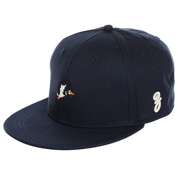 Бейсболка с прямым козырьком Запорожец Ditch 86 Bit Navy<br><br>Цвет: синий<br>Тип: Бейсболка с прямым козырьком<br>Возраст: Взрослый