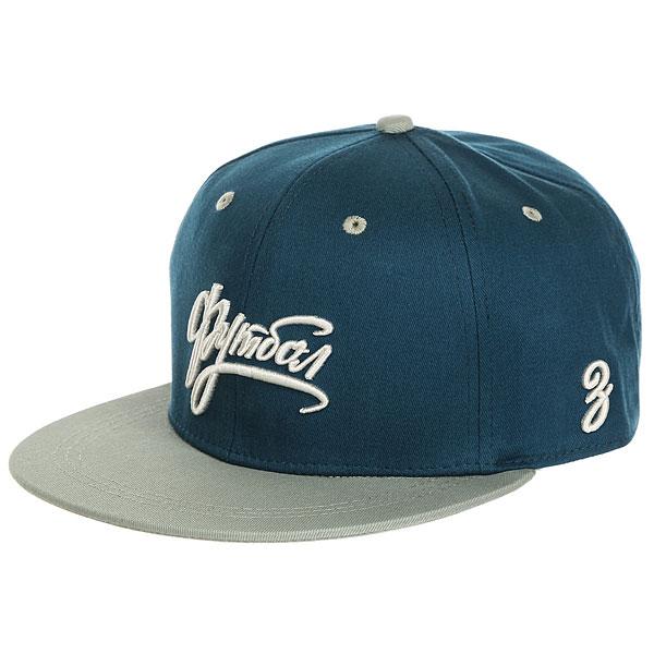 Бейсболка с прямым козырьком Запорожец Footbol Snapback Dark Blue<br><br>Цвет: синий,голубой<br>Тип: Бейсболка с прямым козырьком<br>Возраст: Взрослый