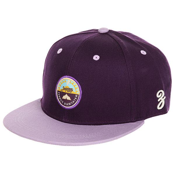 Бейсболка с прямым козырьком Запорожец Kamchatka Deep Purple<br><br>Цвет: фиолетовый<br>Тип: Бейсболка с прямым козырьком<br>Возраст: Взрослый