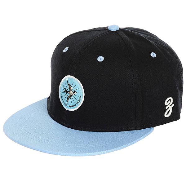 Бейсболка с прямым козырьком Запорожец Lastochka Navy/Blue<br><br>Цвет: черный,голубой<br>Тип: Бейсболка с прямым козырьком<br>Возраст: Взрослый