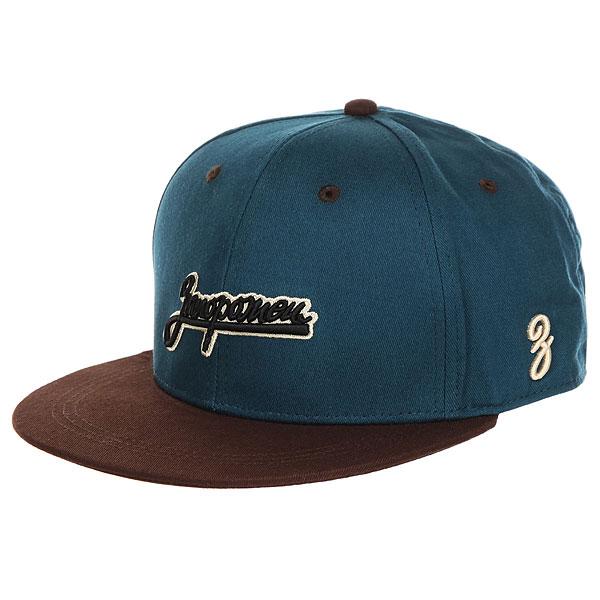 Бейсболка с прямым козырьком Запорожец Logo Dark Blue/Brown шапка запорожец zap classic logo sky brown yellow