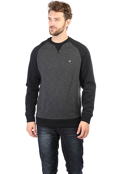 Толстовка свитшот Billabong Balance Crew Black Heather
