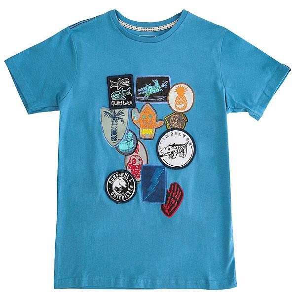 Футболка детская Quiksilver Badgesteeyouth Cendre Blue<br><br>Цвет: голубой<br>Тип: Футболка<br>Возраст: Детский