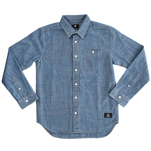 Рубашка в клетку детская DC Arrowood Boy Indigo Chambray рубашка в клетку dc shoes reedsbirg ls sea pine