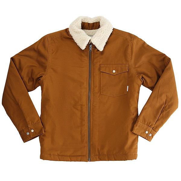 Куртка детская Quiksilver Dabeinlsyth RubberДетская куртка Dabein с теплой шерпой.Технические характеристики: Уютный классический крой.Прочный хлопок.Теплая подкладка и воротник из шерпы.Манжеты на кнопках.Один нагрудный карман.Застежка на молнию.<br><br>Цвет: коричневый<br>Тип: Куртка<br>Возраст: Детский