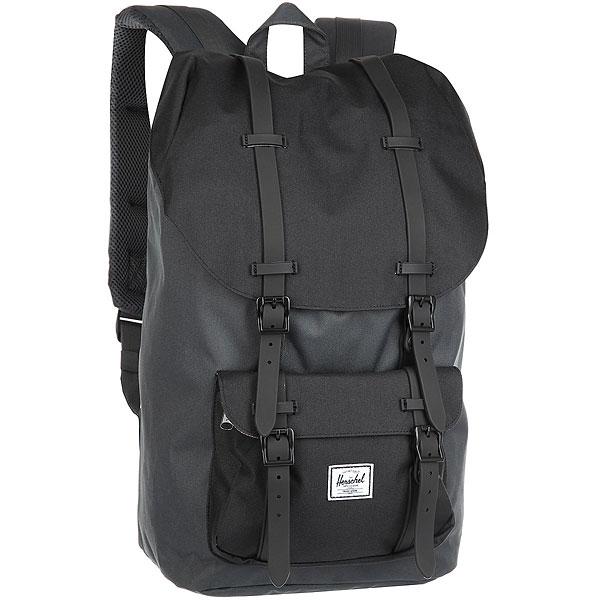 Рюкзак Herschel Little America Dark Shadow/Black Rubber<br><br>Цвет: черный,Темно-серый<br>Тип: Рюкзак<br>Возраст: Взрослый<br>Пол: Мужской