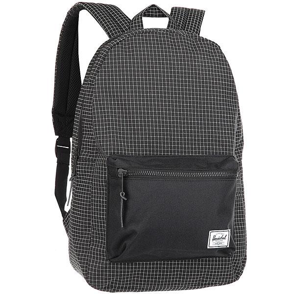 Рюкзак Herschel Settlement Black GridКультовый рюкзак в винтажном стиле с уникальным дизайном и в качественном исполнении.Технические характеристики: Классическая полосатая подкладка.Карман для ноутбука 15.Передний карман с клипсой для ключей.Внутренний медиа-карман с портом для наушников.Классическая нашивка с логотипом.<br><br>Цвет: черный<br>Тип: Рюкзак<br>Возраст: Взрослый