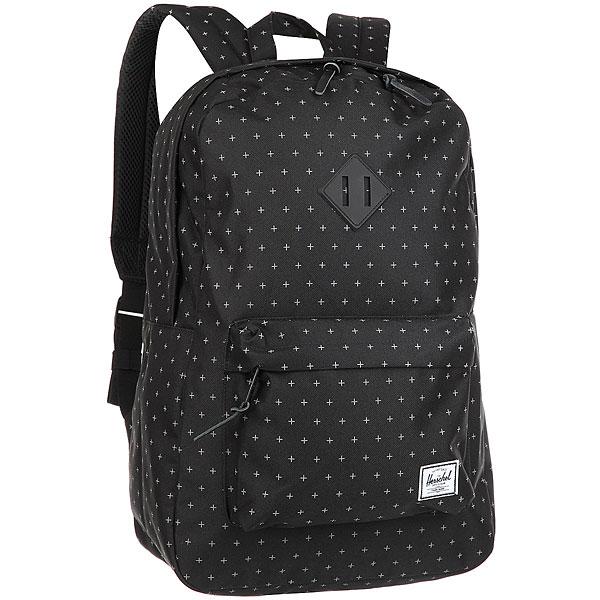 Рюкзак Herschel Heritage Black GridlockВневременной стиль и функциональный дизайн в рюкзаке Heritage™.Технические характеристики: Классическая полосатая подкладка.Карман для ноутбука 15.Передний карман с клипсой для ключей.Внутренний медиа-карман с портом для наушников.Классическая нашивка с логотипом.<br><br>Цвет: черный<br>Тип: Рюкзак<br>Возраст: Взрослый