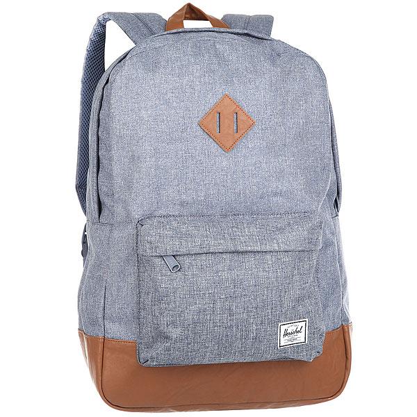 Рюкзак Herschel Heritage Dark ChambrayВневременной стиль и функциональный дизайн в рюкзаке Heritage™.Технические характеристики: Классическая полосатая подкладка.Карман для ноутбука 15.Передний карман с клипсой для ключей.Внутренний медиа-карман с портом для наушников.Классическая нашивка с логотипом.<br><br>Цвет: Светло-голубой<br>Тип: Рюкзак<br>Возраст: Взрослый