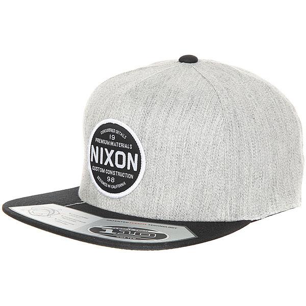 Бейсболка с прямым козырьком Nixon Lazaro Snapback Hat Black<br><br>Цвет: Светло-серый,черный<br>Тип: Бейсболка с прямым козырьком<br>Возраст: Взрослый<br>Пол: Мужской