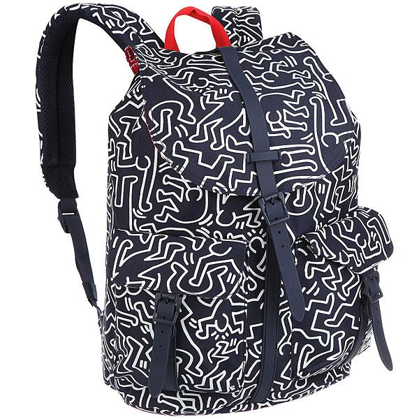 Рюкзак Herschel Dawson Peacoat Keith HaringВ честь одного из самых знаковых художников 80-х годов, Herschel создал рюкзак Keith Haring украшенный всемирно известной иллюстрацией.Технические характеристики: Иллюстрация от Keith Haring.Карман для ноутбука 15.Основное отделение закрывается на шнурок и магнитную застежку.Внешние карманы.Классическая нашивка Herschel.<br><br>Цвет: белый,Темно-синий<br>Тип: Рюкзак<br>Возраст: Взрослый