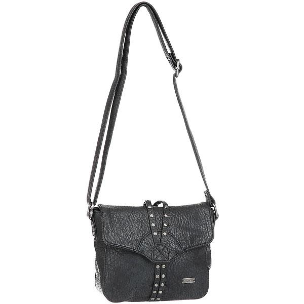 Клатч женский Roxy Bamboom AnthraciteМаленькая сумка через плечо Bamboom. Характеристики:Мягкий кожзаменитель. Удобно носить через плечо. Заплечная лямка с регулируемой длиной.На нейлоновой молнии. Подкладка с принтом. Металлический значок с логотипом ROXY.<br><br>Цвет: черный<br>Тип: Клатч<br>Возраст: Взрослый<br>Пол: Женский