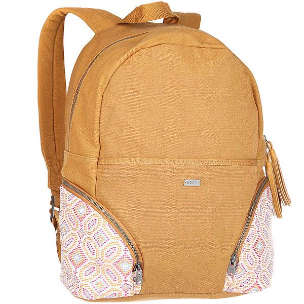 Рюкзак женский Roxy Bombora Spruce YellowБольшой рюкзак Bombora. Характеристики:Изготовлен из парусины. Передний карман на шнуровке. Нашивка из натуральной кожи с логотипом.Два боковых кармана на молнии.<br><br>Цвет: Светло-коричневый<br>Тип: Рюкзак<br>Возраст: Взрослый<br>Пол: Женский