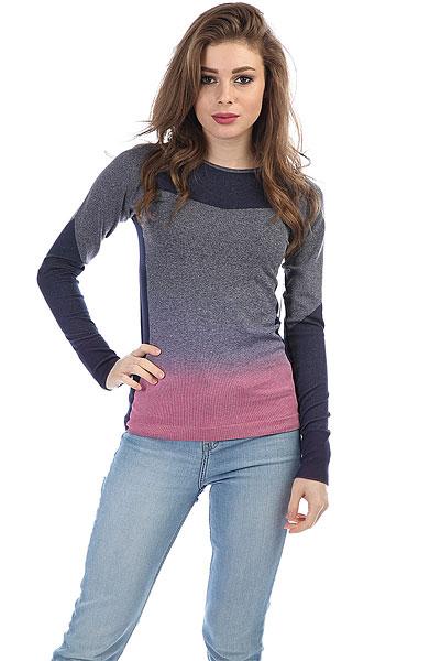 Толстовка классическая женская Roxy Passa Peacoat<br><br>Цвет: синий,розовый<br>Тип: Толстовка классическая<br>Возраст: Взрослый<br>Пол: Женский