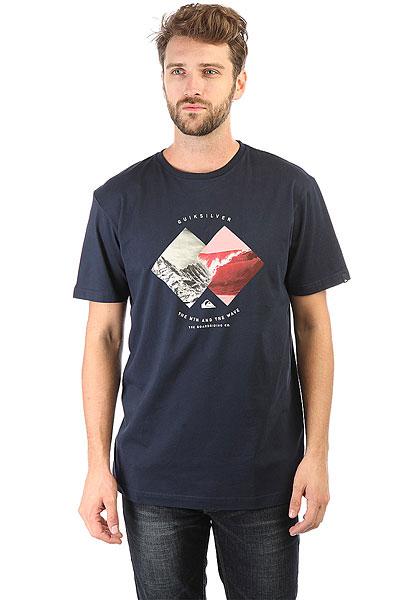 Футболка Quiksilver Ssclasplesurzon Navy Blazer<br><br>Цвет: Темно-синий,серый,красный<br>Тип: Футболка<br>Возраст: Взрослый<br>Пол: Мужской