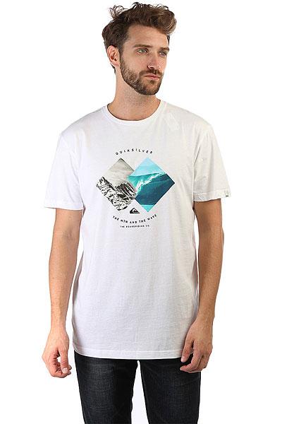 Футболка Quiksilver Ssclasplesurzon White<br><br>Цвет: белый,голубой,серый<br>Тип: Футболка<br>Возраст: Взрослый<br>Пол: Мужской