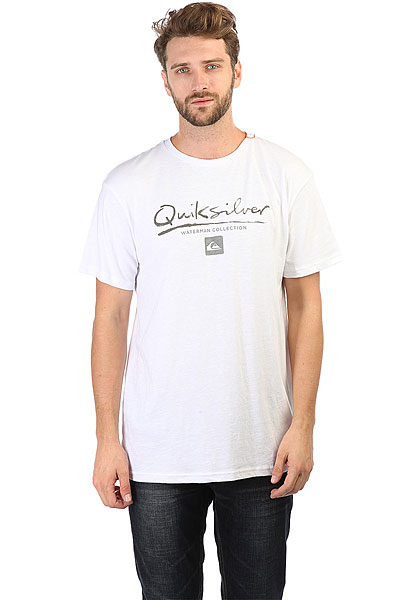 Футболка Quiksilver Gutcheck White<br><br>Цвет: белый,черный<br>Тип: Футболка<br>Возраст: Взрослый<br>Пол: Мужской