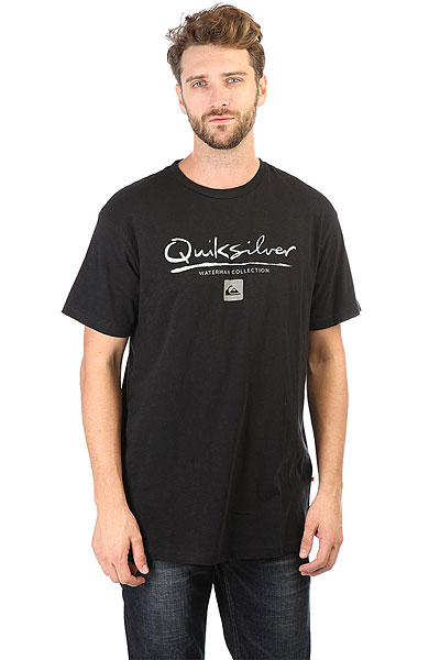 Футболка Quiksilver Gutcheck Black<br><br>Цвет: черный<br>Тип: Футболка<br>Возраст: Взрослый<br>Пол: Мужской