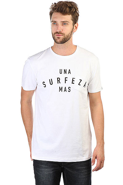 Футболка Quiksilver Sssustesurfeza White<br><br>Цвет: белый<br>Тип: Футболка<br>Возраст: Взрослый<br>Пол: Мужской