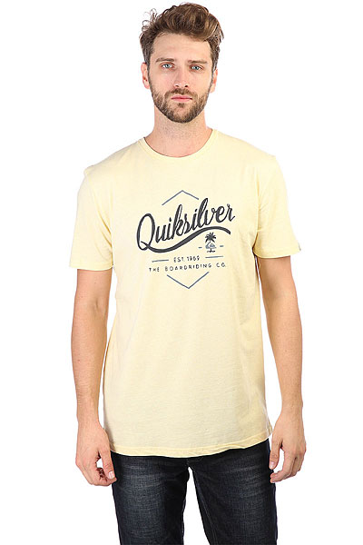 Футболка Quiksilver Ssclateseatales Yellow Heathe<br><br>Цвет: желтый<br>Тип: Футболка<br>Возраст: Взрослый<br>Пол: Мужской