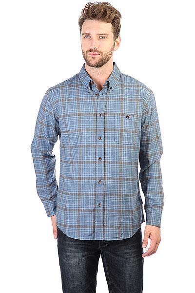 Рубашка в клетку Quiksilver Cortezstraight Estate Blue Cortez<br><br>Цвет: серый,синий<br>Тип: Рубашка в клетку<br>Возраст: Взрослый<br>Пол: Мужской